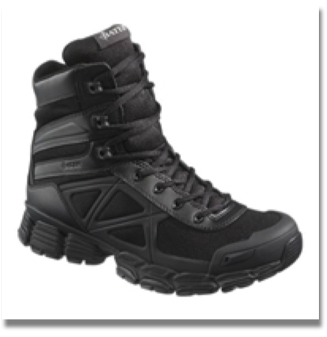 BATES MEN'S VELOCITOR BLACK  Oil, Stain and Abrasion-Resistant Wolverine Warrior Leather® and Mesh Upper, Breathable Mesh Lining, Dual Density Cushioned Insert, Cushioned EVA Midsole, Durable Rubber Outsole with TPU Arch Support, Cement Construction