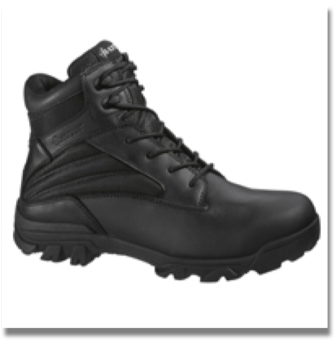 BATES MEN'S ZR-6 BOOT  Leather and nylon upper, Breathable lining, Cushioned removable insert, Slip resistant rubber outsole, Athletic cement construction