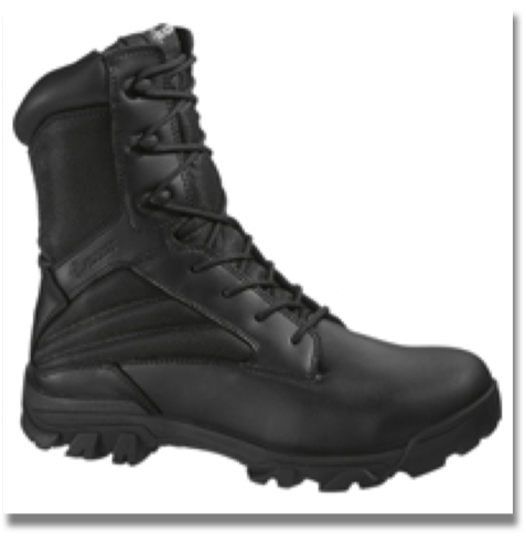 BATES MEN'S ZR-8 BOOT  Leather and nylon upper, Breathable lining, Cushioned removable insert, Slip resistant rubber outsole, Athletic cement construction