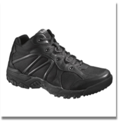 BATES ZERO MASS MID BLACK SHOES  Leather/Nylon Upper, Moisture Wicking, anti-bacterial AurerightTM Insert, Cushioned Eva Midsole, Durable Rubber Outsole, Cement Construction, Durable, easy to clean leather upper