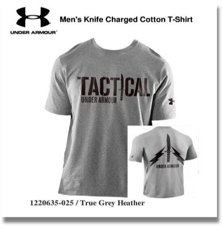 UNDER ARMOUR MEN'S KNIFE CHARGED COTTON T-SHIRT