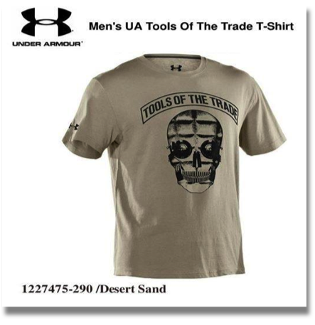 UNDER ARMOUR MEN'S TOOLS OF THE TRADE T-SHIRTS