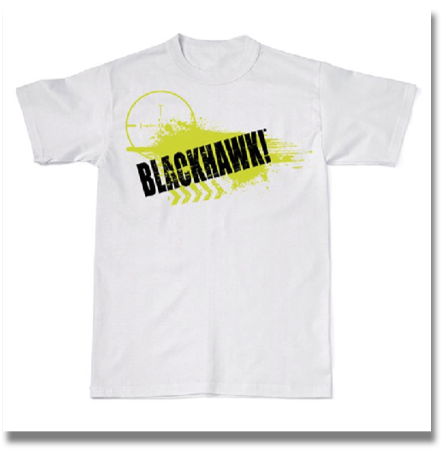 BLACKHAWK! SCOPE GRAPHIC SHIRT  Rock the BLACKHAWK!® logo in style with these casual T-shirts, featuring edgy graphics and tactical-inspired designs.