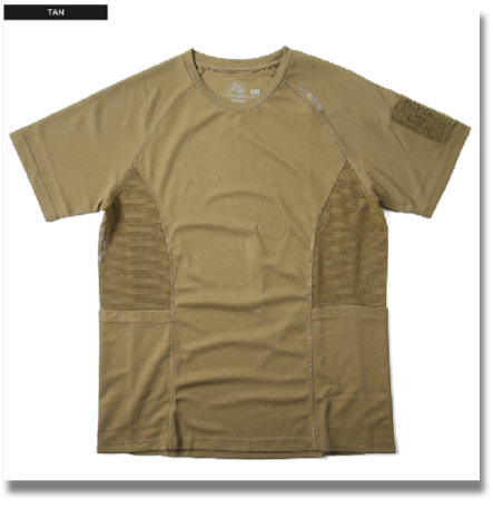 MAGFORCE C-0106 COOLMAX T-SHIRT TAN  It is adopted the MAGFORCE - URBAN TACTICAL APPAREL-line smooth and comfortable to wear good, excellent drying COOLMAX t-shirt. That made mesh fabric under the armpit, so more breathable, moisture 籠rimasenn in. Patch onto the Velcro placed his left arm kicked others, can be used as a pen holder. Scruff the emergency personal information (name, contact, blood type, birthday) can as it has filled.