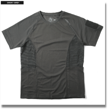 MAGFORCE C-0106 COOLMAX T-SHIRT SMOKE GRAY  It is adopted the MAGFORCE - URBAN TACTICAL APPAREL-line smooth and comfortable to wear good, excellent drying COOLMAX t-shirt. That made mesh fabric under the armpit, so more breathable, moisture 籠rimasenn in. Patch onto the Velcro placed his left arm kicked others, can be used as a pen holder. Scruff the emergency personal information (name, contact, blood type, birthday) can as it has filled.