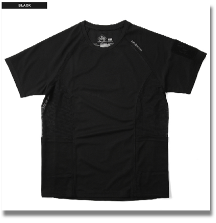 MAGFORCE C-0106 COOLMAX T-SHIRT BLACK  It is adopted the MAGFORCE - URBAN TACTICAL APPAREL-line smooth and comfortable to wear good, excellent drying COOLMAX t-shirt. That made mesh fabric under the armpit, so more breathable, moisture 籠rimasenn in. Patch onto the Velcro placed his left arm kicked others, can be used as a pen holder. Scruff the emergency personal information (name, contact, blood type, birthday) can as it has filled.